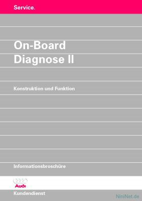 Cover des SSP Nr. 175 von Audi mit dem Titel: On-Board-Diagnose II (1997)